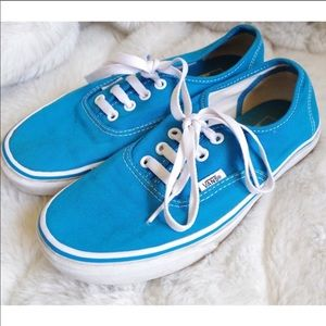 Blue Authentic Lace Up Vans Canvas Shoes